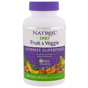 Нэтрол, Daily Fruit & Veggie, Ultimate Superfood, 90 Veggie Caps отзывы