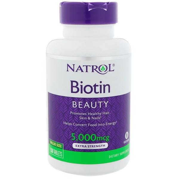 Natrol, 生物素,特強,5000微克,150片