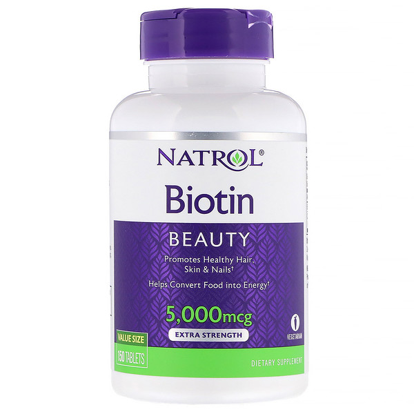 Natrol, Biotin, Extra Strength, 5,000 mcg, 150 Tablets