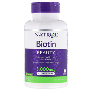 Нэтрол, Biotin, Extra Strength, 5,000 mcg, 150 Tablets отзывы