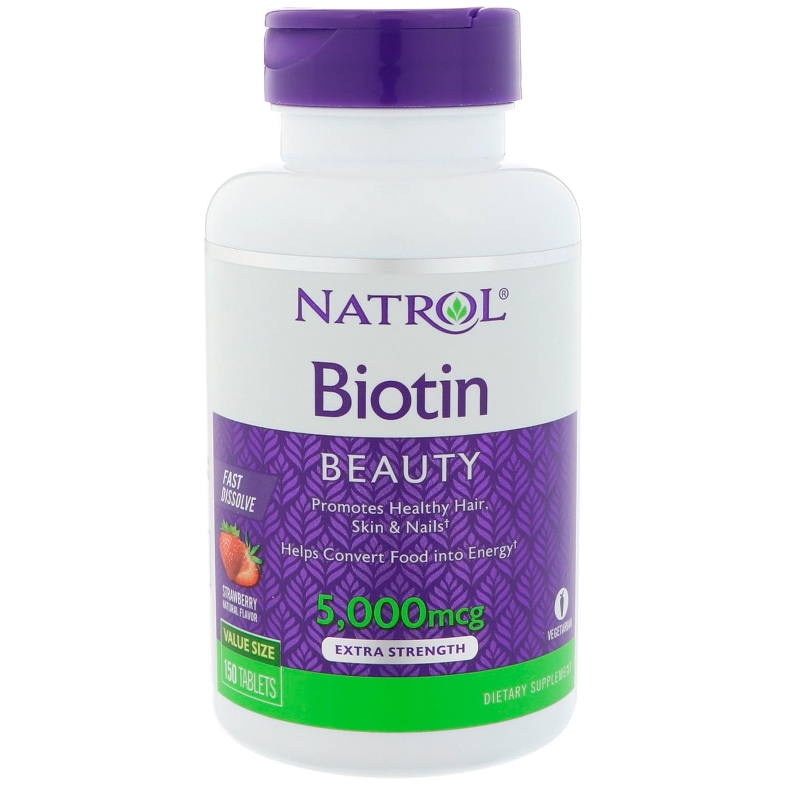 Natrol biotin 5000 mcg extra strength