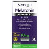 Natrol, 褪黑激素高級睡眠,定時釋放,10 毫克,100 片
