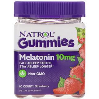 Natrol, ガミーズ、メラトニン、ストロベリー、10 mg、90個