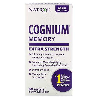 Купить Natrol Cognium, Сверхсила, 200 мг, 60 таблеток