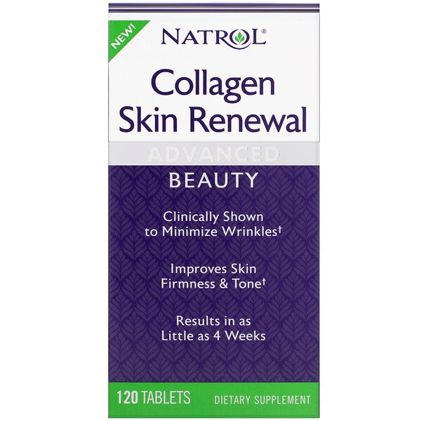 Natrol, Collagen Skin Renewal, 120 טבליות
