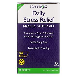 Natrol, ежедневное средство для снятия напряжения, с медленным высвобождением, 30 таблеток