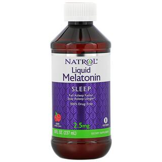 Natrol, リキッドメラトニン、睡眠、ベリーナチュラルフレーバー、2.5mg、237ml(8fl oz)