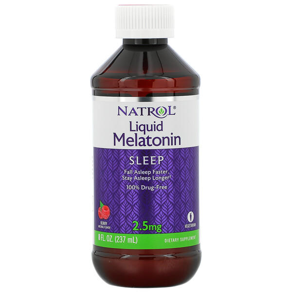 Natrol, Liquid Melatonin, Sleep, Berry, 2.5 mg, 8 fl oz (237 ml)
