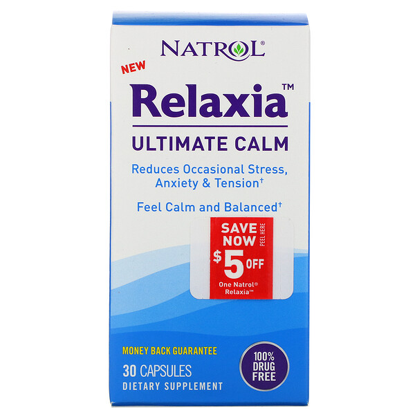 Relaxia, Ultimate Calm, 30 Capsules