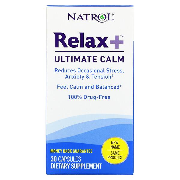 Natrol, Relax +, Ultimate Calm, 30 Capsules
