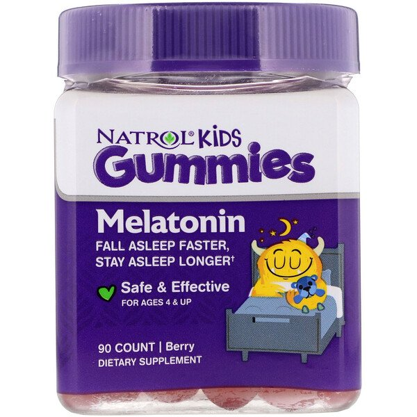 Natrol, Kids, Melatonin, Ages 4 & Up, Berry, 90 Gummies