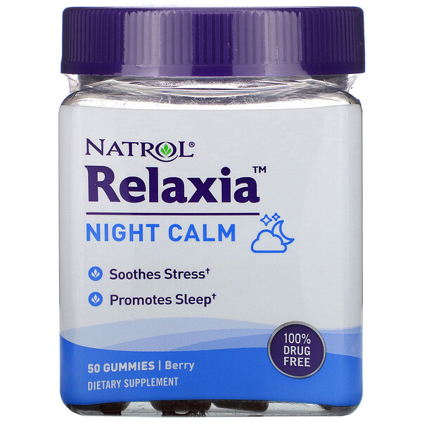 Relaxia, Night Calm,  Berry, 50 Gummies