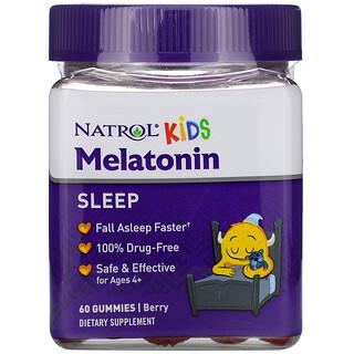 Natrol, Kids, Melatonin, Ages 4+, Berry, 60 Gummies