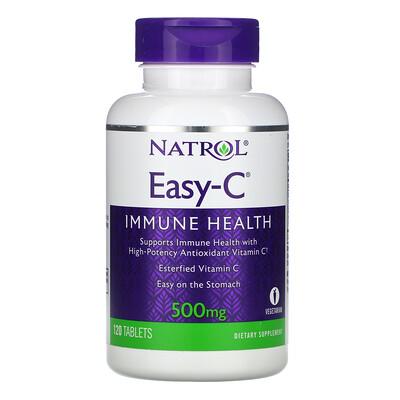 Купить Natrol Easy-C, 500 mg, 120 Tablets