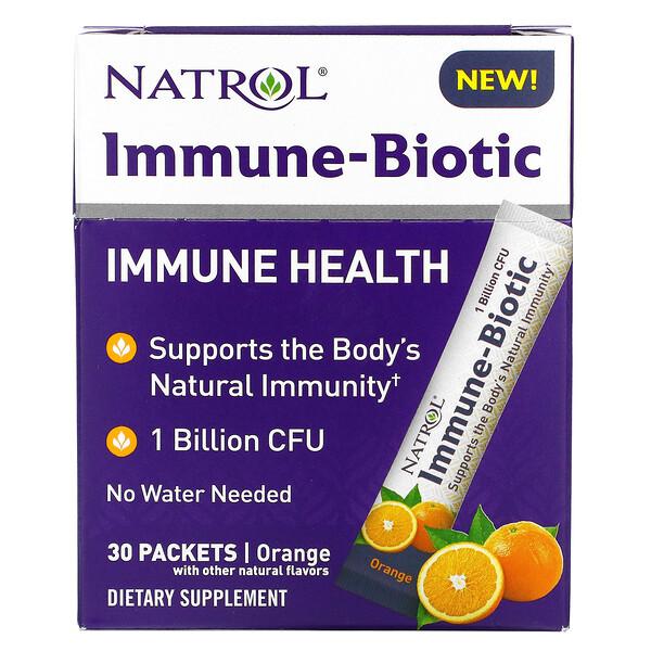 Natrol, Immune-Biotic, Orange, 1 Billion CFU, 30 Packets