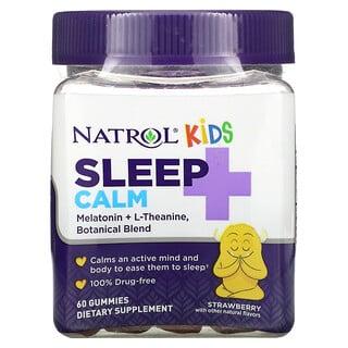 Natrol, Kids, Sleep + Calm, Ages 4 + Up, Strawberry, 60 Gummies