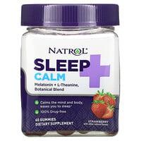 Natrol, Sleep + Calm, Strawberry, 60 Gummies