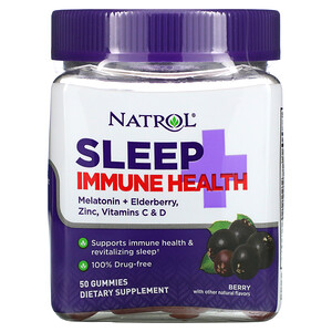 Natrol, Sleep + Immune Health, Berry, 50 Gummies