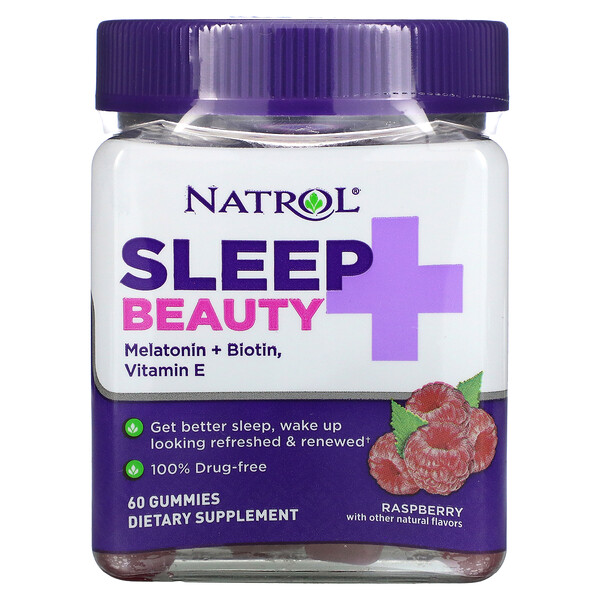 Natrol, Sleep + Beauty, Raspberry, 60 Gummies