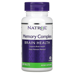 Natrol, Memory Complex, Brain Health, 60 Tablets