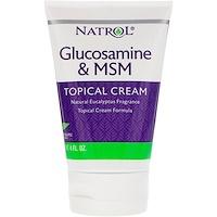 Глюкозамин и МСМ, крем для местного применения, 4 ж.унц. (118 мл) - фото