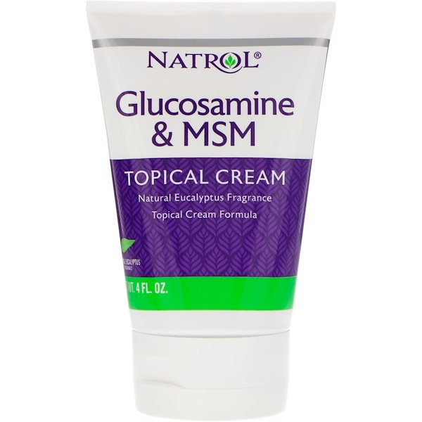Natrol, Glucosamine & MSM, Topical Cream, 4 fl oz (Discontinued Item)