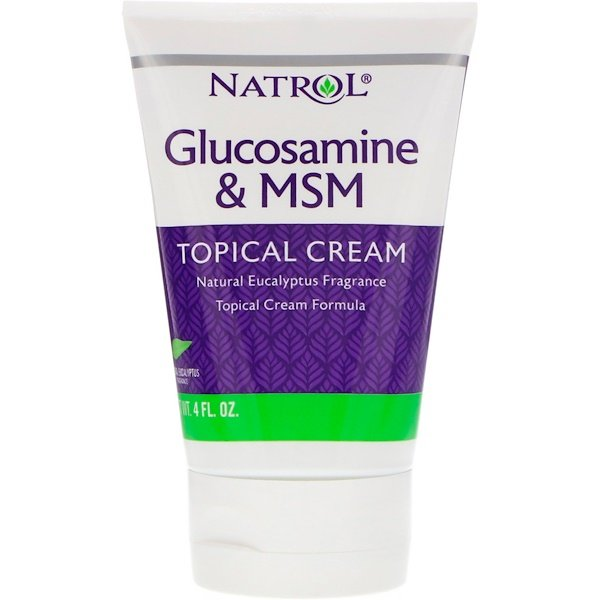 Natrol, Glucosamine & MSM, Topical Cream, 4 fl oz