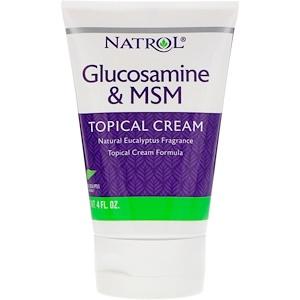 Нэтрол, Glucosamine & MSM, Topical Cream, 4 fl oz отзывы покупателей