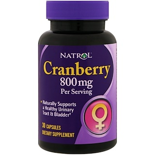 Natrol, Cranberry, 800 mg, 30 Capsules