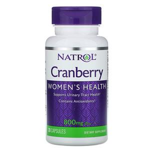 Нэтрол, Cranberry, 800 mg, 30 Capsules отзывы