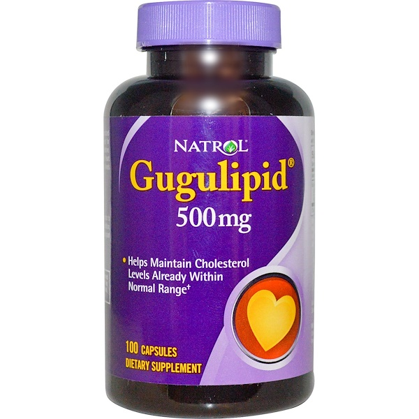 Natrol, Gugulipid, 500 mg, 100 Capsules (Discontinued Item)