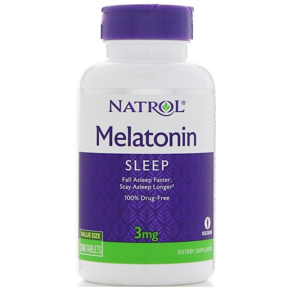 Natrol, Melatonin, 3 mg, 240 Tablets