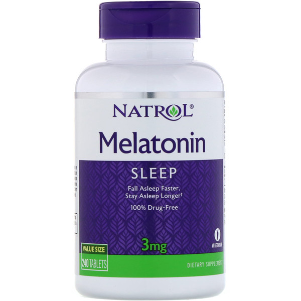 Natrol, Melatonin, 3 mg, 240 Tabletten