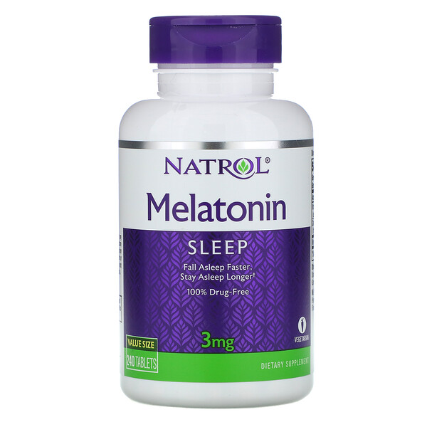 Melatonin, 3 mg, 240 Tablets