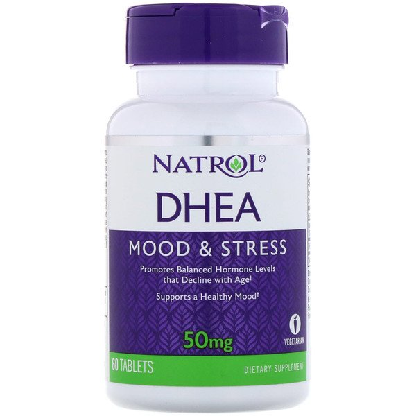 DHEA, 50 mg, 60 tablettes
