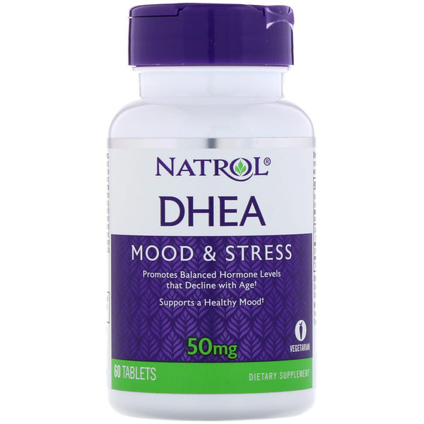 Natrol, DHEA, 50 mg, 60 tablettes