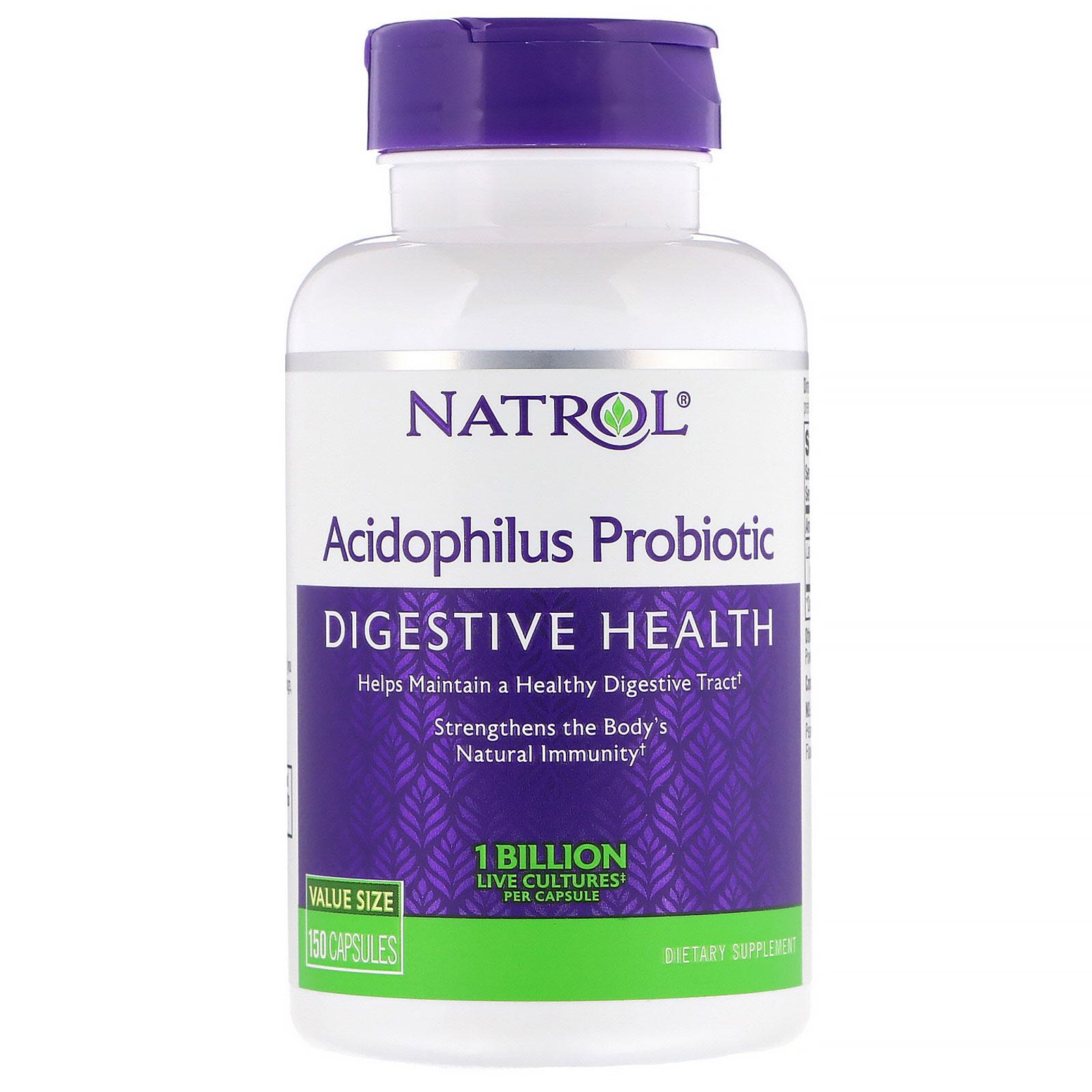 Natrol, Acidophilus Probiotic, 1 Billion, 150 Capsules - iHerb com