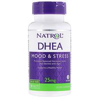 DHEA, Mood & Stress, 25 mg, 180 Tablets - фото