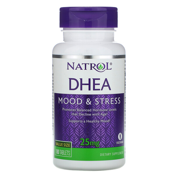 DHEA, 25 mg, 180 Tablets