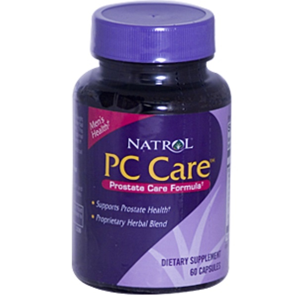 Natrol, PC Care, Prostate Care Formula, 60 Capsules (Discontinued Item)