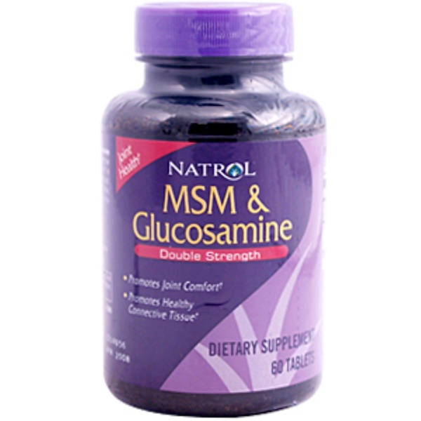 Natrol, MSM & Glucosamine, Double Strength, 60 Tablets (Discontinued Item)