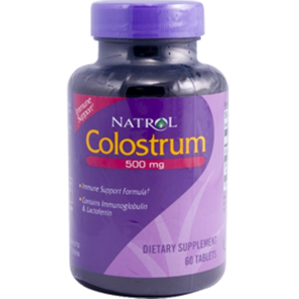 Natrol, Colostrum, 500 mg, 60 Tablets (Discontinued Item)