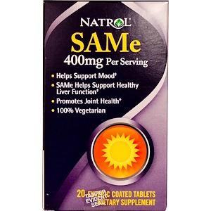 Нэтрол, SAMe (S-Adenosyl-L-Methionine), 400 mg, 20 Enteric Coated Tablets отзывы