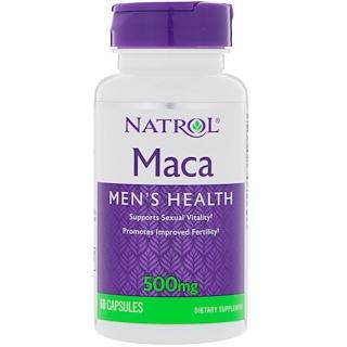 Natrol, 마카, 500 mg, 60 캡슐