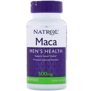 Natrol, マカ、500mg、60カプセル