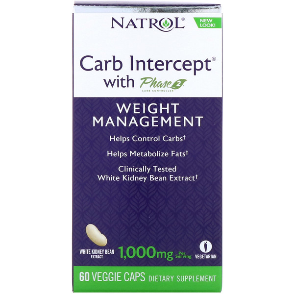 Carb Intercept with Phase 2 Carb Controller, 1,000 mg, 60 Veggie Caps