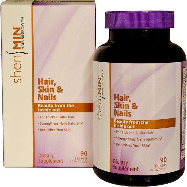 Natrol, Shen Min, Hair, Hair Regrowth, Hair, Skin & Nails, 90 Tablets (Discontinued Item)