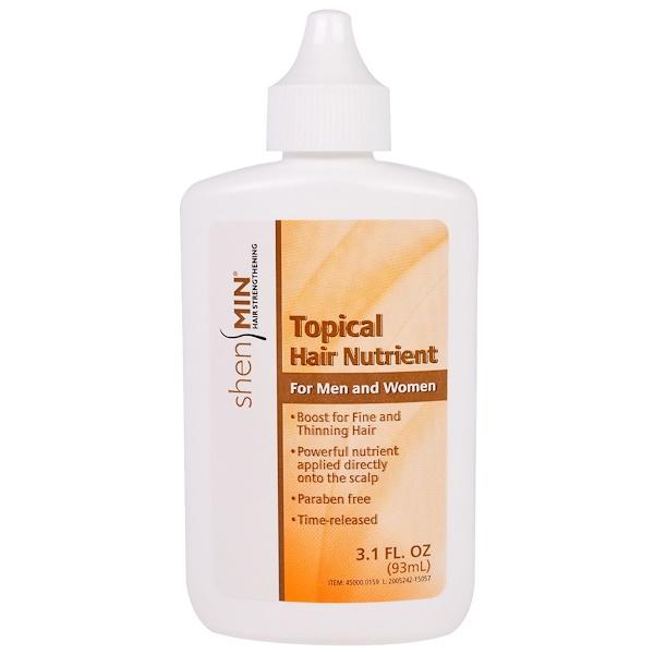 Natrol, Shen Min, Питательное средство наружного применения для волос, для мужчин и женщин, 3.1 жидких унций (93 мл)