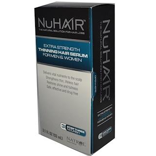 Natrol, 누헤어, 가늘어지는 모발 세럼, 남녀공용, 3.1 fl oz (93 ml)
