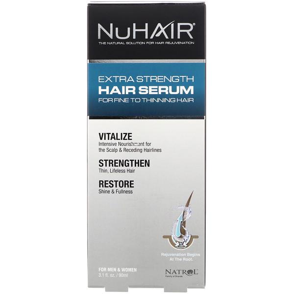 Natrol, NuHair، مصل الشعر لقوة إضافية، للرجال و النساء، 3.1 أونصات سائلة (90 مل)